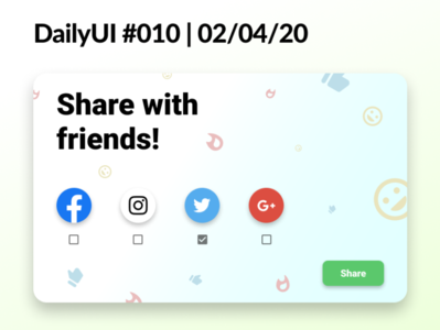 #DailyUI 010 -Social Share