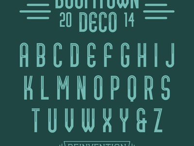 Boomtown Deco (Free Font) letters font typeface type type design lettering retro art deco tulsa free free font reinvention design