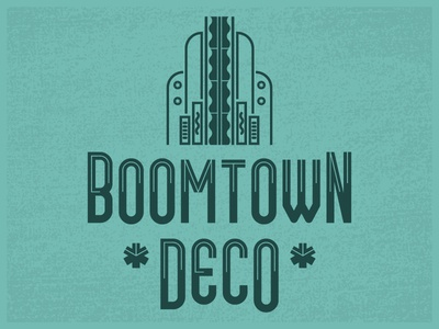 Boomtown Deco (Free Font) letters font typeface type type design lettering retro art deco tulsa free free font reinvention design