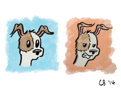 Luna sketch brush pen cartoon dog illustration