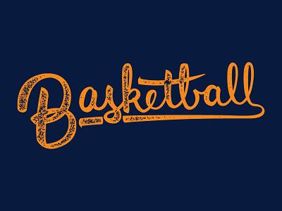 Draft Day (Script Experiment) brush pen script lettering typography type basketball