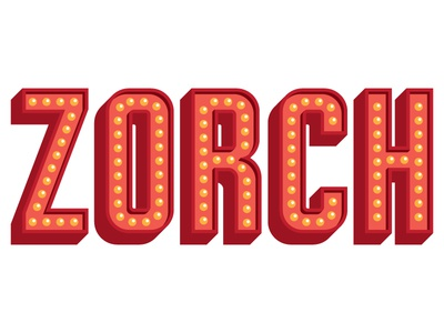 Bulbs and Shadows zorch lettering sign letters bulbs shadows gig poster