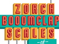 Zorch Gig Poster