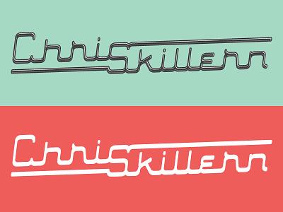 Personal Branding lettering type custom type logo retro chrome branding