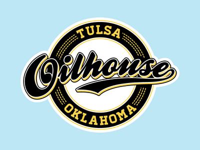 Oilhouse Logo logo lettering type tulsa oilhouse hip-hop baseball