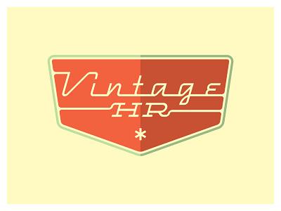 Vintage HR again... type logo retro vintage