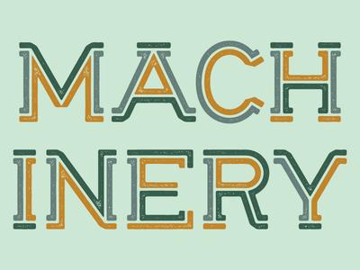 Machinery lettering type inline slab serif