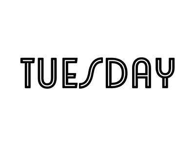 Tuesday deco inline font typography type