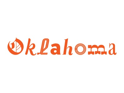 Oklahoma glyphs letters lettering typography type