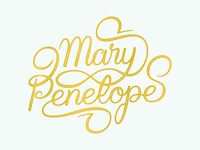 Mary Penelope Script typography type script vector hand lettering brush lettering brush script lettering