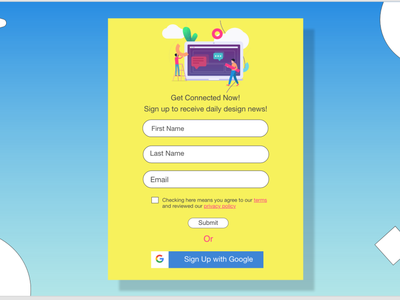 Simple Login Screen website web ux ui minimal design