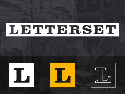 Letterset Branding letterset logo branding square rectangle orange clarendon