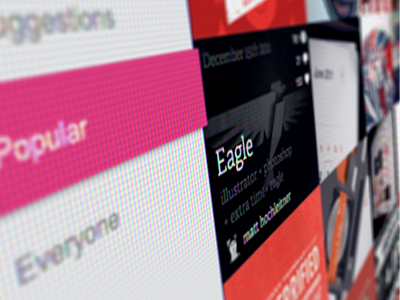 Dribbble Realignment dribbble pink gray adelle redesign simplebits