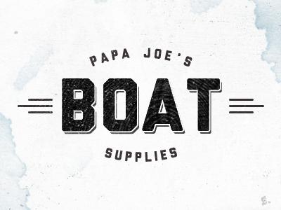 Papa Joe's boat liberator losttype retro vintage logo sea ship