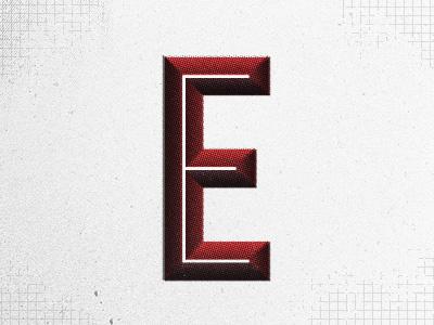 Halftone Deaf red grey lettering typography halftone grunge vintage retro sign