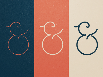 Ampersands ampersand ampersands and blue red cream retro grunge clean typography lettering fonts typefaces
