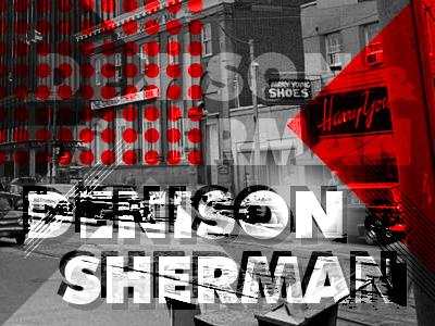 Denison Sherman retro vintage futura black white 60s sixties red modernism bauhaus