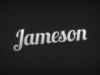 Jameson retro vintage clean dark script logo text