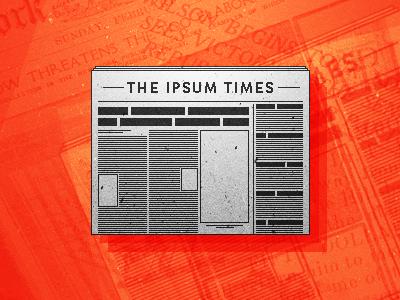 A-Changin' newspaper news times pixel red grunge layout orange wireframe