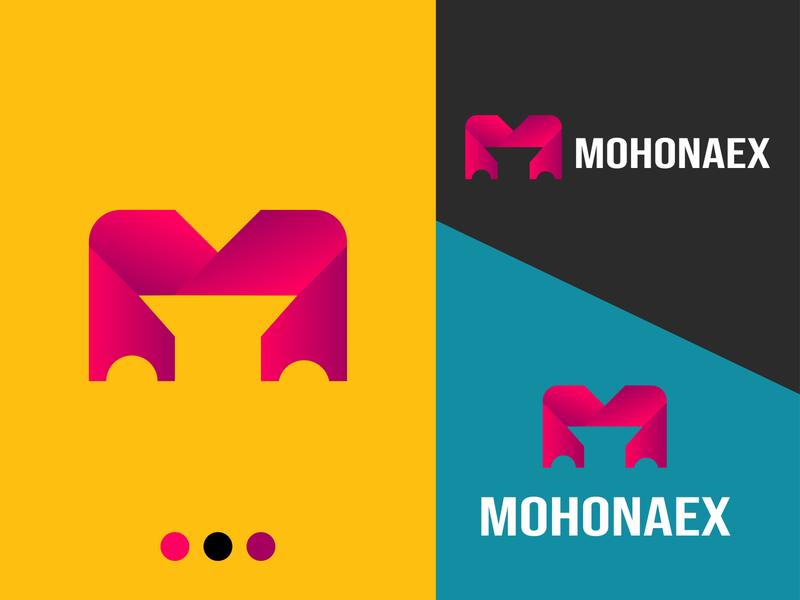 M logo design for mohonaex company branding minimal icon coloful logo creative logo logo design logo unique logo modern logo grid logo m logo
