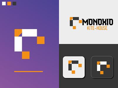 MONOXIO - Kite logo branding kite kite logo pro 3d vect vector clean ui illustration design minimal logo design modern logo branding icon logo branding logo