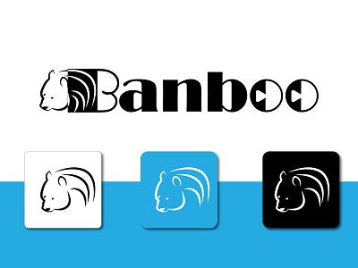 BANBOO - Logo Branding logodesignprp dailylogochallange graphic design logo vector vectbest best clean design illustration icon animal panda branding minimal logodesign banboo