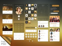 Ios7 on iphone gold ui kit