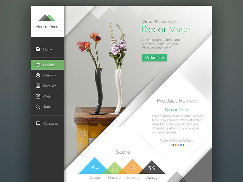 House Decor UI concept design clean app web minimal ui interface white black website web design