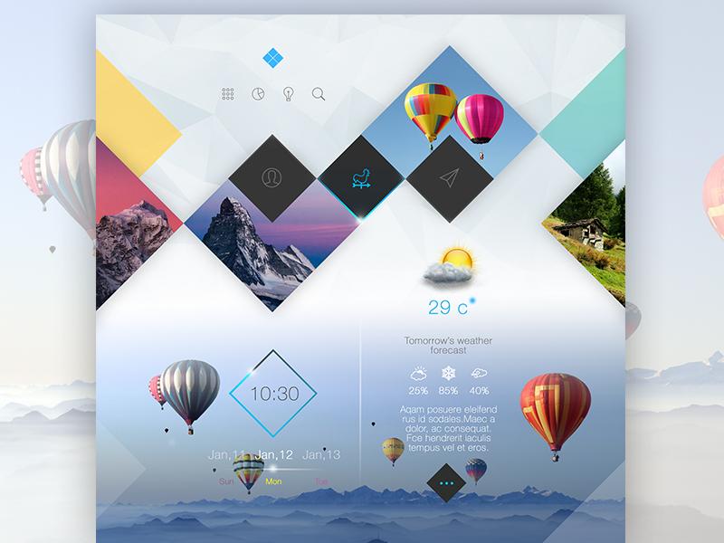Square Zone Light design clean web ux ui white blue minimal simple website interface web design