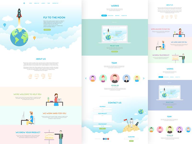 Jai website ui ux flat web web design illustrator white clean design minimal