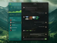 Que Chat - Green Sidebar