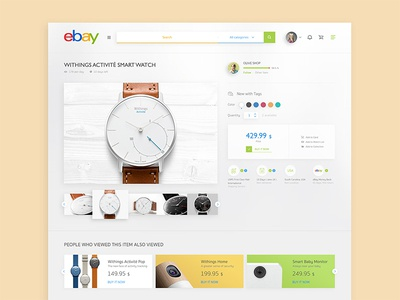 Ebay Redesign interface design concept white ecommerce clean minimal redesign website web ui ux