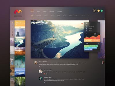 Marx color photo design interface black dark clean web website concept ux ui