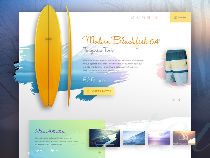 Playe minimal colour clean white colourful website web design interface concept ux ui