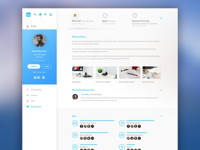 Linkedin Redesign White redesign linkedin clean white application app website web design concept ux ui