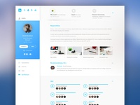 Linkedin Redesign White