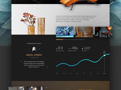 Cuboir gold interface user interface idea modern black luxury website web design concept ui