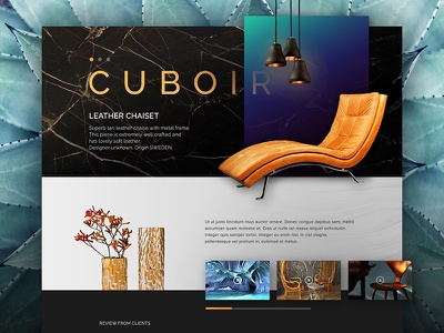 Cuboir gold interface user interface idea modern black luxury website web design concept ui