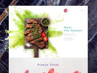 Meat The Heaven design minimal dark clean web website meat beef interface concept ux ui