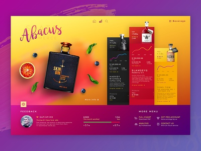 Abacus l Dashboard website colour dashboard color colourful interface design concept app web ux ui