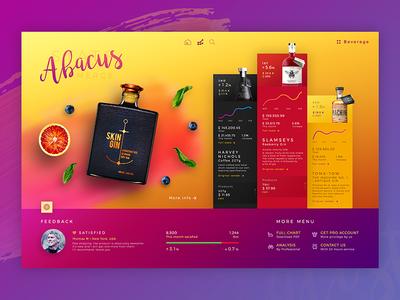 Abacus l Dashboard website colour dashboard color colourful interface design concept app web ux ui