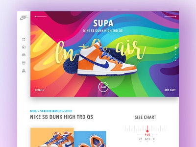 Nike Supa l Concept website shoes fashion nike shoe colourful interface design concept web ux ui