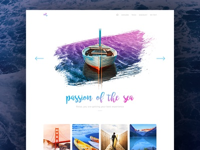 Passion of the sea white clean minimal traveling travel website web user interface interface concept ux ui