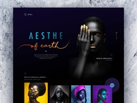 Hara l The Aesthetics color web design dark minimal clean black typography web website concept design ui
