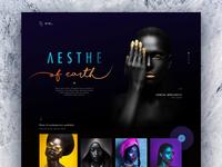 Hara l The Aesthetics color web design dark minimal clean black typography web website concept design ui