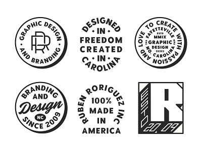 Personal Badge Lockups vector logo black type graphic design badge lettering graphic design logo illustration typography