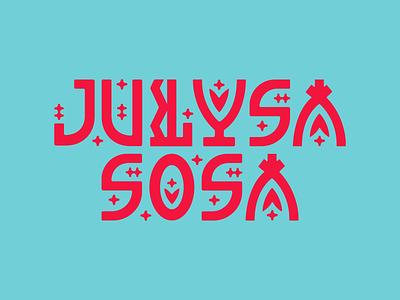 Julysa Sosa Logo design letters logo vector type graphic design lettering graphic design logo illustration typography