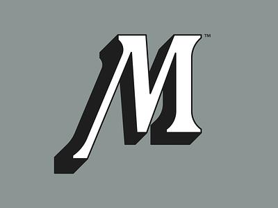 M Icon m 3d shadow icon ui logo design type graphic design badge lettering graphic design logo illustration typography