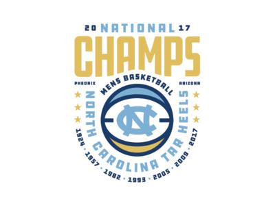 UNC CHAMPS. unc lettering typography badge illustration graphic design logo