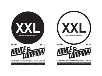 WIP | Nance & Company Clothing Tag. size tag clothing lettering typography badge illustration graphic design logo